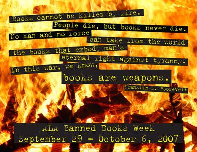 Banned Books Week postcard